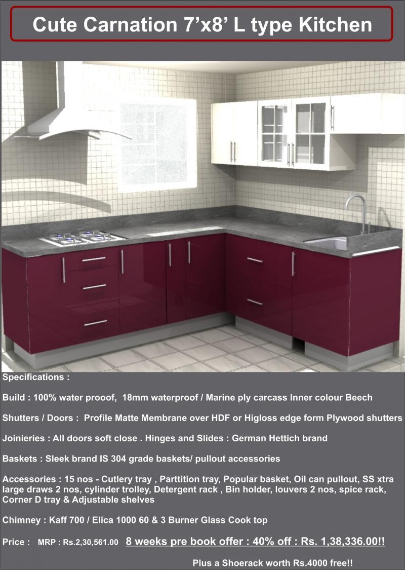 Cute Kitchen Modular Kitchen Manufacturer In Chennai A Brandowned